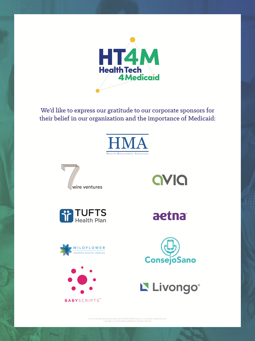 HT4M Future of Medicaid Innovation Forum Poster